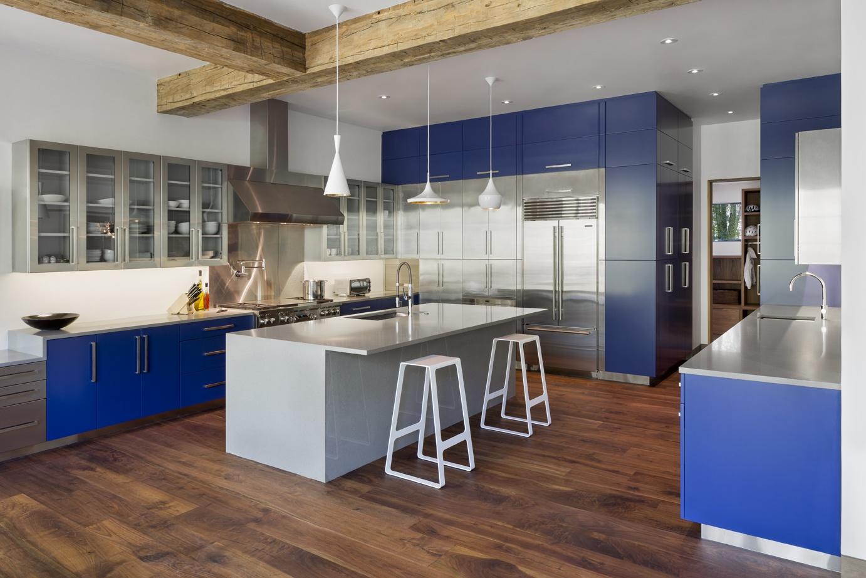 Modern Stainless Steel Amp Blue Bliss Modern Kitchen Center
